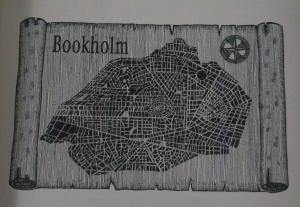 Map of Bookholm, (c) Walter Moers