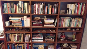 Before Reorganization, or what happens when you more-or-less abandon a bookcase for 12 years.